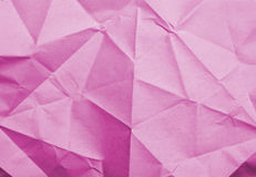 Pink rumpled paper texture Royalty Free Stock Photo