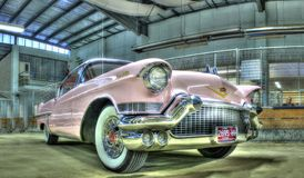 Pink 1950s Cadillac Royalty Free Stock Photos