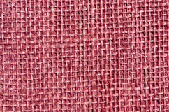 Pink sack cloth texture. Royalty Free Stock Photography