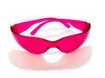 Pink safety glasses Royalty Free Stock Image