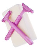 Pink Safety Razors Stock Images