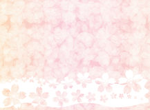Pink sakura blossom wallpaper or background stock illustration