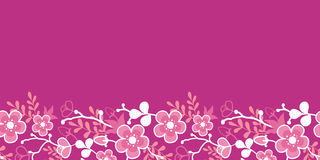 Pink Sakura Kimono Blossom Horizontal Seamless Stock Photos