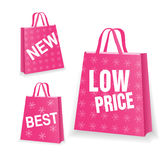 Pink sale shopping bag Stock Photo