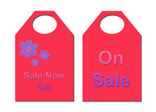 Pink Sale Tickets. On Sale, sale now on...sizzling pink tickets to show off your sale items Royalty Free Stock Images