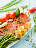 Pink salmon steaks Stock Image