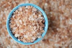 Pink Salt in Bowl stock images