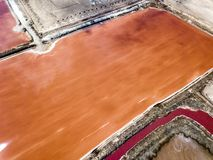 The pink salt filed. In Walvis Bay, Namibia royalty free stock photography