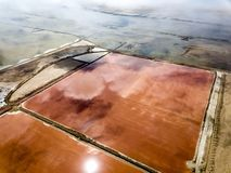 The pink salt filed. In Walvis Bay, Namibia royalty free stock images
