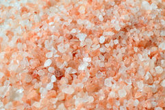 Pink salt from the Himalaya - background Stock Images