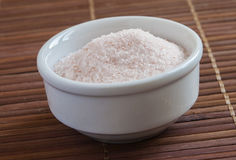 Pink salt from the Himalayas Stock Image