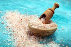 Pink salt from the Himalayas. Himalaya sea salt stock photography