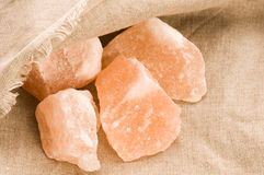 Pink salt of Hymalayas. mineral Royalty Free Stock Images