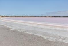 Pink Salt Lake Becking Landscape. Murray-Sunset National Park, Victoria, Australia Royalty Free Stock Photos