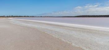 Pink Salt Lake Becking Landscape Royalty Free Stock Photography