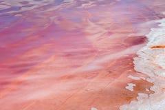 Dimboola Pink Lake. The pink salt lake of Dimboola, Victoria Royalty Free Stock Photography