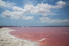 Free Pink Salty Lake Stock Photo - 101412360