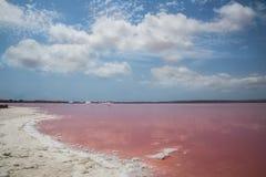 Pink salty lake. Torrevieja, Spain Stock Photo