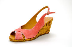 Pink sandal. Foreground on white background Royalty Free Stock Image