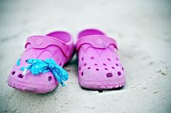 Pink sandals Royalty Free Stock Image