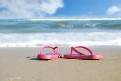 Pink Sandals stock photography