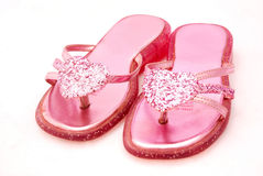 Pink sandals Royalty Free Stock Photography