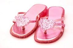 pink sandals 免版税图库摄影
