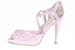 Pink sandals with heels Royalty Free Stock Image
