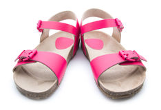 Pink sandals Royalty Free Stock Photo