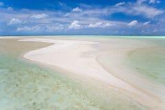 Pink sands. Beautiful sand island in turquoise waters in tahiti Stock Photo