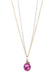 Pink sapphire necklace. Royalty Free Stock Image