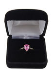 Pink sapphire ring Stock Photos