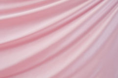 Pink satin. Drape of beautiful pink satin Stock Images