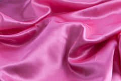 Pink satin background Stock Photos