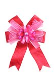 Pink satin bow Royalty Free Stock Photography