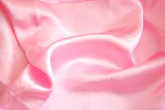 Pink Satin Cloth Royalty Free Stock Images