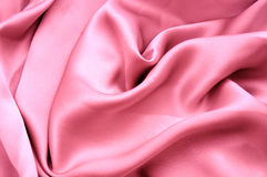 Pink satin fabric Royalty Free Stock Photography