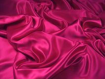 Pink Satin Fabric [Landscape] royalty free stock photography