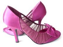 Pink Satin High Heels Royalty Free Stock Photos