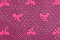 Pink satin lace tracery Royalty Free Stock Image