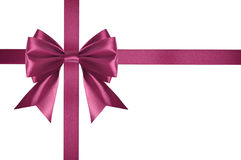 Pink satin ribbon Stock Photos
