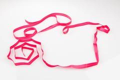 Pink satin ribbon Stock Images