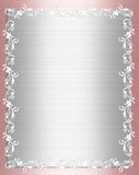 Pink Satin Shabby chic Border Stock Photos