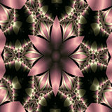 Pink satin star flower. Abstract fractal image resembling a pink satin star flower Stock Photos