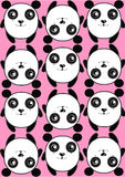 Pink saver pattern background texture pattern of cute pandas Stock Photos