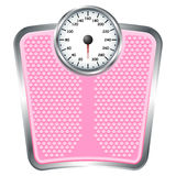 Pink scale. Bathroom pink scale isolate over white background Royalty Free Stock Photo