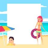 pink scallop seashell 女孩和孩子 动画片样式 免版税库存照片