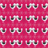 Pink Scandinavian Love Birds Pattern Design royalty free illustration
