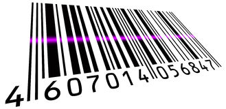 Pink scanned BarCode Stock Image