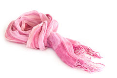 Pink scarf. Pink shawl with white background Royalty Free Stock Photos
